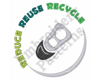 Reduce Reuse Recycle - Machine Embroidery Design