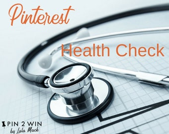 Pinterest Health Check. Review and audit of your Pinterest account to boost your small business marketing. Includes a written report   S02