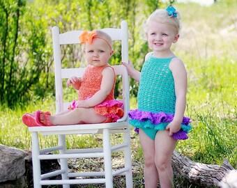 Crochet Baby Romper Pattern, Crochet Baby Dress Pattern,  Crochet Baby Sun Suit Pattern, Crochet Romper Pattern,  Crochet Sun Suit Pattern