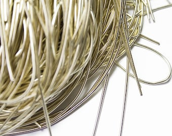 Smooth Gilded wire cannetille 1 mm x 1 meters
