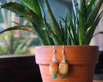 Aventurine earrings.