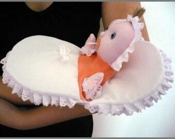 Baby in a blanket - handpuppet for children