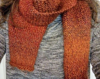 Knitted Autumn Colored Scarf