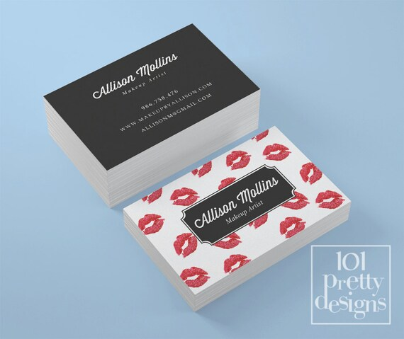 Lipsense business card kisses printable business card design like this item flashek Gallery