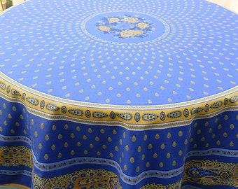Round Tablecloth .Easy care.Wipeable.Waterproof fabric. Stain resistant. Lavande color