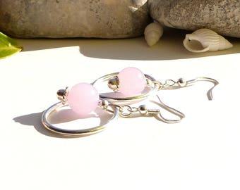 Creole jade earrings creator, Freshwater Pearl drop earrings purple jade earrings jade hoop designer jade jewelry