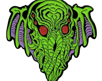 Cthulhu Enamel Pin from Skinner's Necronomicon
