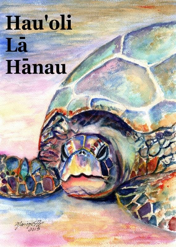 Printable diy happy birthday hawaiian language card 5x7 pdf printable diy happy birthday hawaiian language card 5x7 pdf from kauai hawaii hauoli la hanau sea turtle bookmarktalkfo Images