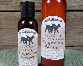 Egyptian Amber, All Natural Goat Milk Lotion
