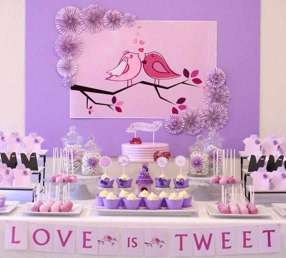 Love birds themed wedding backdrop printable 20 x love birds themed wedding backdrop printable 20 x 30 instant download you print junglespirit Choice Image