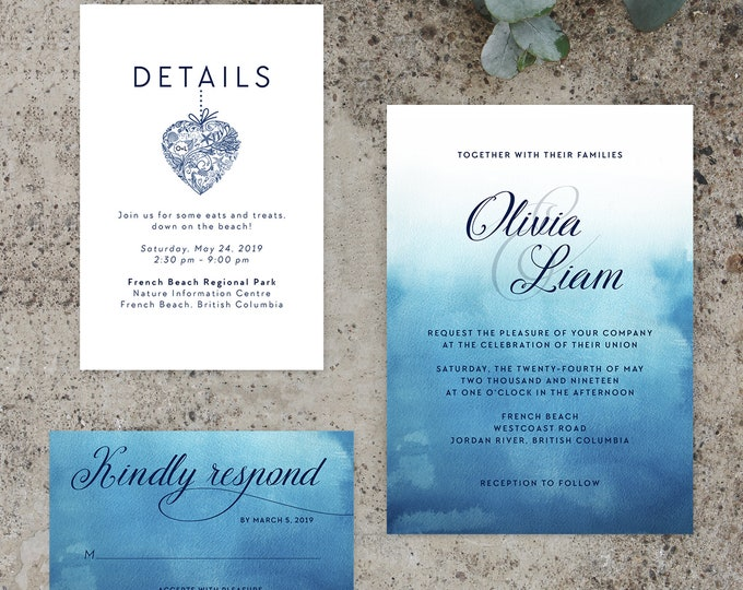 Featured listing image: Wedding Invitations - Ocean Falls (Style 13651)