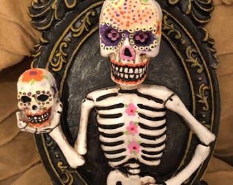 Sugar Skull in picture frame