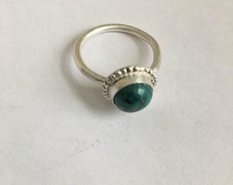 Chrysocolla Silver Ring