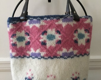 Scandinavian Wool Felted Tote Bag