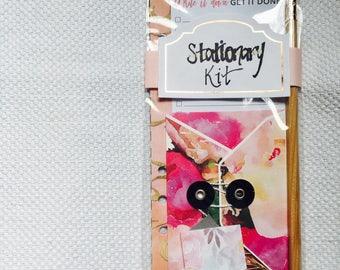 Stationary kit, stationary set, stationary accessories, snail mail kit, journaling kit, writing kit, travel journal accessories