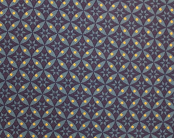Celestial by Dan Morris for Quilting Treasures, quilting fabric, gold metallic stars, Sold by the Half Yard