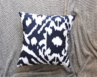 Ikat Cushion Cover, Throw Pillow Cover, Throw Cushion Cover, Decorative Cushion Cover, Decorative Pillow Cover - Navy