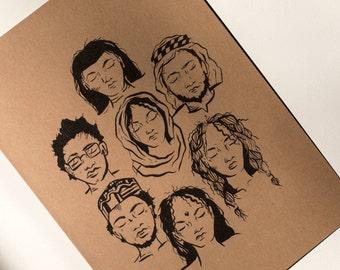 Humankind - Charity Print (Peckham Sponsors Refugees)