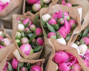 France Fine Art Photo - Peonies in Strasbourg market, French Home Decor, Large Wall Art, France Art Print, Travel Photography,Alsace