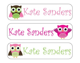 40 Owls Waterproof Kid's Sippy Cup (or baby item) Labels - Dishwasher Safe - great for food containers, bottles, lunch box, jars Sip002