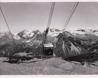 Luftseilbahn Arosa Weisshorn, Switzerland. Real Photograph Postcard ~ UnPosted.