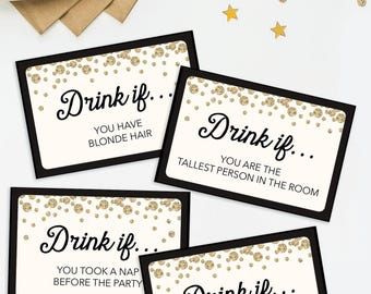 Bachelorette Party Game - Drink If Game - Printable Bachelorette Game - Drinking Games - Bachelorette Party Ideas - Bachelorette Weekend