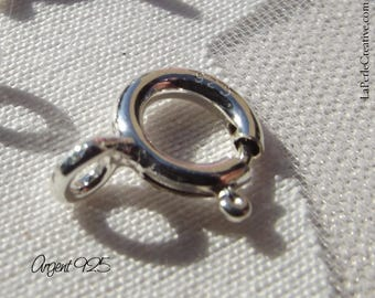 925 Sterling Silver Spring clasp