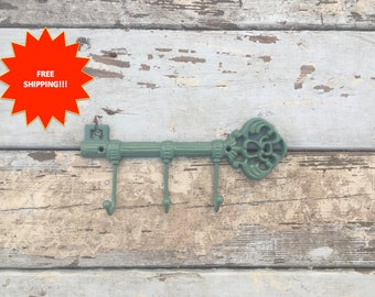 Shabby Chic Key Hook // Wall Hook // Key Hook // Key Rack // Key Holder // Vintage Key Rack