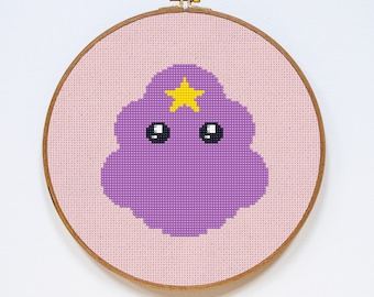 Lumpy Space Princess Cross Stitch Pattern, Adventure Time Easy Cross Stitch Chart, PDF Format, Instant Download