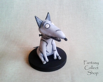 Sparky Custom figurine Frankenweenie toy cartoon figurine Dog figure Frankenstein dog Toy from cartoon Puppy figurine Tim Burton film