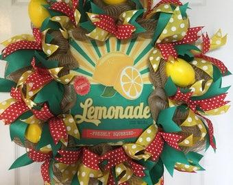 Freshly Squeezed Lemonade Wreath