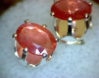 Padparadscha Sapphire Earrings