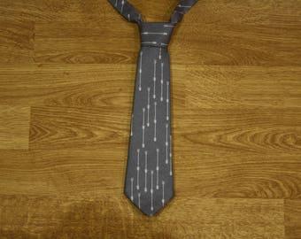 Tie for kids arrows patterned