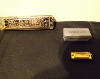 Broadway Melody Harmonica and Hohner Mini Harmonic with Case