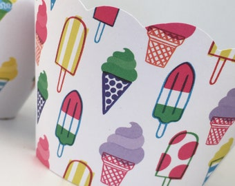 Ice Cream Party Cupcake Wrappers