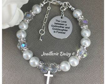 Goddaughter Gift for Godmother Bracelet The Love between Godmother and Goddaughter is Forever First Communion Baptism Gift Confirmation Gift