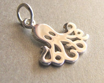 Sterling Silver Octopus Charm