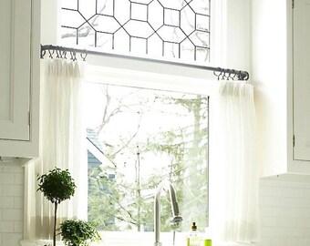 Linen Cafe Curtain, Kitchen Curtain, Bedroom Curtains, Linen Curtains,  Ruffled Linen Curtains, Farmhouse Decor, Ruffled Linen, Custom