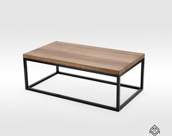 Oak Coffee Table, Handcrafted Table, Industrial Design, Bespoke Furniture, Wooden Table, Living Room Table, Minimalist