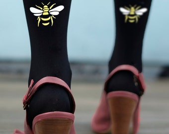 Bee Tights - Printed and Flocked Insect Tights