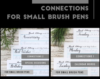 Bundle 5: Connections 1 and 2 Words for Small Brush Pens