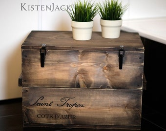 "Crate Box cargo Box Chest Table ""Saint Tropez"""