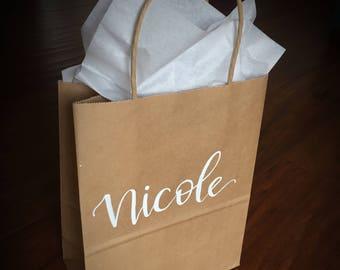 Custom Name Gift Bags