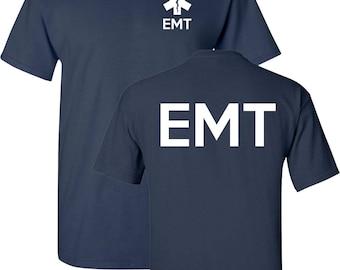 EMT EMS Paramedic Emergency Medical Services Front & Back Men's Tee Shirt 1618
