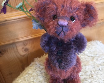 THE BOYFRIEND: a handmade jointed teddy bear from Jazzbears