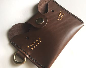 animal-bear,leather card holder,small wallet,card wallet