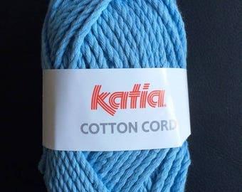 Wool Cotton blue Cord (62) Katia - 100 g skein