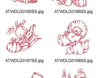 Redwork-Thanksgiving ( 10 Machine Embroidery Designs from ATW ) XYZ17C