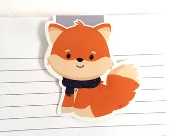 Fox Magnetic Bookmark, Cute Fox Planner Clip, Back to School, Book Lovers, Gift for Readers, Foxy Gift, Animal Bookmarks, Gifts for Teachers