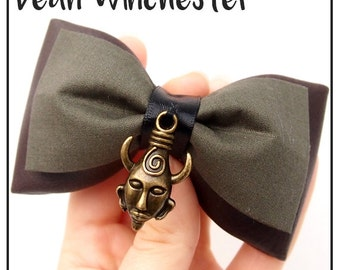 Dean Winchester Inspired Hair Bow / Bow Tie (Double / Single) (Supernatural)